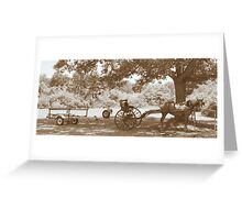 Amish Boat Trailer Greeting Card