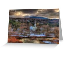 White Church in Vermont - Stowe Greeting Card