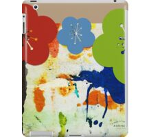 7 DAYS OF SUMMER- ART PILLOWS, PRINTS-ABSTRACTGreen and Red iPad Case/Skin