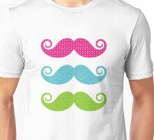 Color mustaches Unisex T-Shirt