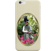 A Colonial Lady in Her Garden iPhone Case/Skin