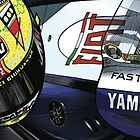 Valentino Rossi - Fiat Yamaha M1 by quigonjim