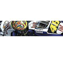 Valentino Rossi - Fiat Yamaha M1 Photographic Print