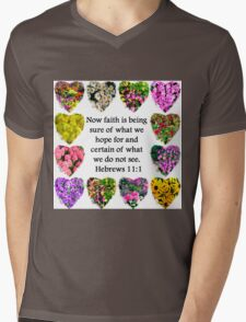 BEAUTIFUL HEBREWS 11:1 FLORAL DESIGN T-Shirt