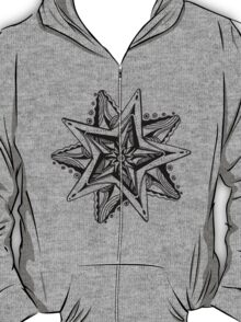 Star Tangles 4 Black Lines - an Aussie Tangle by Heather - See Description Note for Colour Options T-Shirt