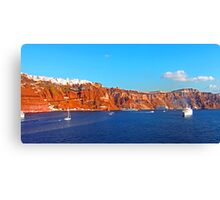 Santorini Cliffs Canvas Print