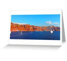 Santorini Cliffs Greeting Card
