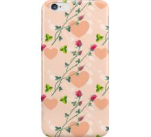 Roses on a pink background iPhone Case/Skin