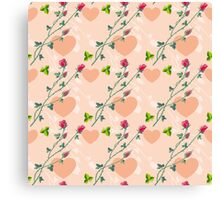Roses on a pink background Canvas Print