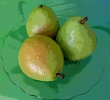 Three Pears by florene welebny