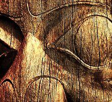 Totem Face - Vancouver by John Kardys