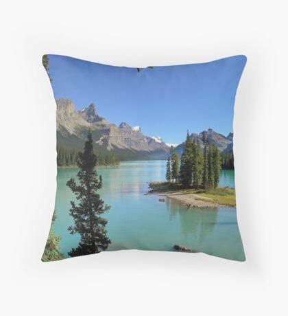 Lake Maligne - Jasper National Park Throw Pillow