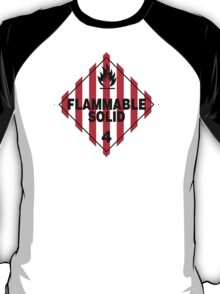 Flammable Solid Black T-Shirt