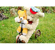 Fred Bear Wishes Barnaby Would Slow Down! Photographic Print