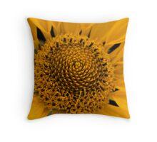 yellow swirl Throw Pillow