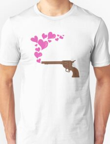 HEART BULLETS Unisex T-Shirt