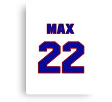 National Hockey player Max Bentley jersey 22 Canvas Print