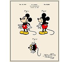 Mickey Mouse Patent - Colour Photographic Print