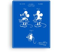 Mickey Mouse Patent - Blueprint Canvas Print