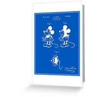 Mickey Mouse Patent - Blueprint Greeting Card