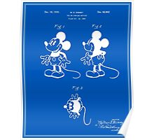 Mickey Mouse Patent - Blueprint Poster