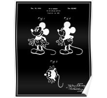 Mickey Mouse Patent - Black Poster