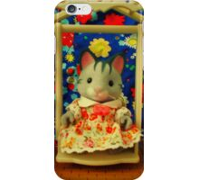 Sylvanian Families ~ Cat and Garden Swing iPhone Case/Skin