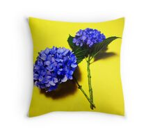 Two Blue Mop Heads Throw Pillow