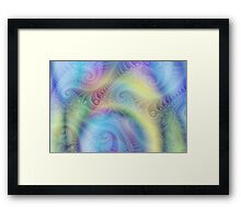 Babysoft Colours Framed Print
