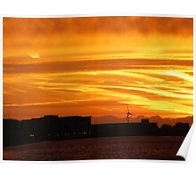 Beautiful sunrise from London By Artist -SG Poster
