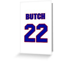 National Hockey player Butch Goring jersey 22 Greeting Card