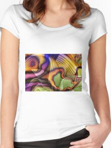 Shadowy. Women's Fitted Scoop T-Shirt