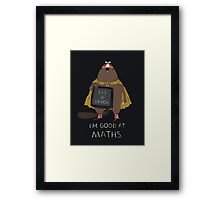 i'm good at maths Framed Print