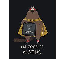 i'm good at maths Photographic Print