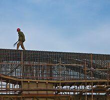 Beijing under construction by dominiquelandau