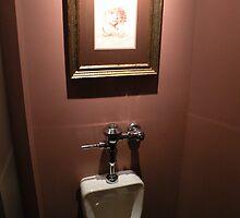 hello, Dali (public urinal series #1) by WonderlandGlass