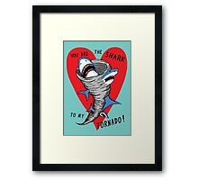 Shark To My Tornado Framed Print