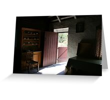 Bunratty cottage kitchen Greeting Card