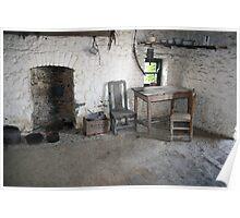 Bunratty folk park cottage kitchen Poster