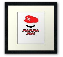Mario Mamma mia! Framed Print