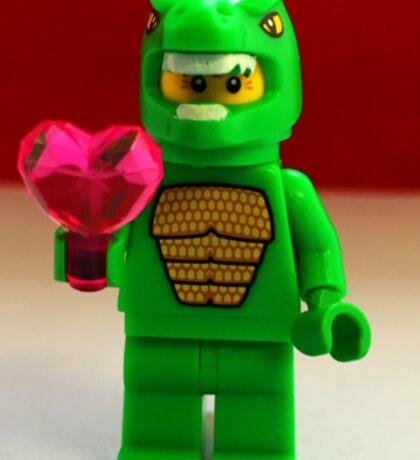 Lego Dinosaur Valentines Sticker