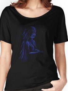 Star Light Blue Women's Relaxed Fit T-Shirt
