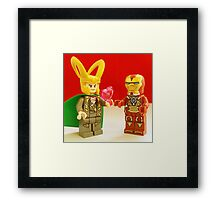 Loki Loves Iron-Man Framed Print
