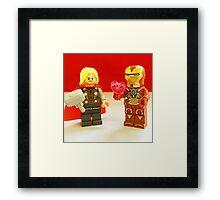 Iron-Man Loves Thor Framed Print
