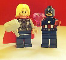 Cap' Loves Thor by FendekNaughton