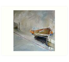 Sun Trying to Breakthrough, Staithes Art Print