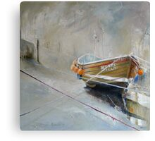 Sun Trying to Breakthrough, Staithes Canvas Print