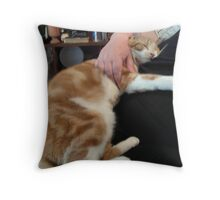 The Therapeutic Cat Throw Pillow