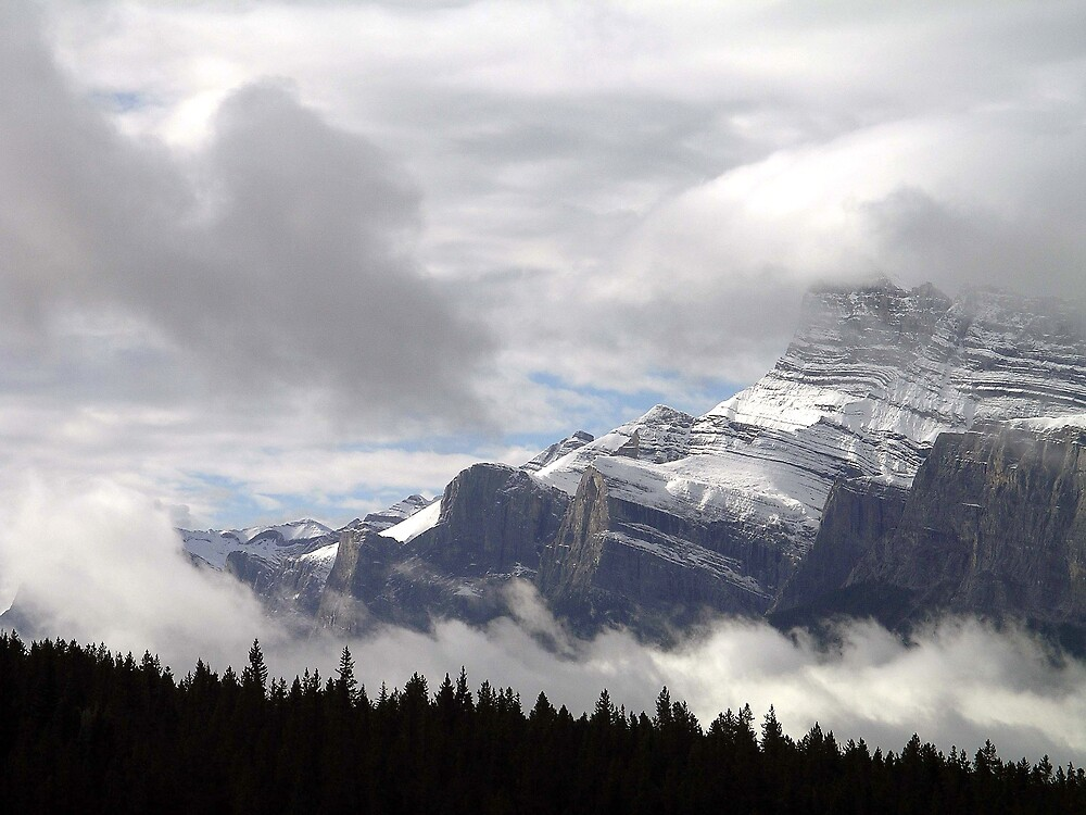 Summer Snowstorm - Banff by John Kardys