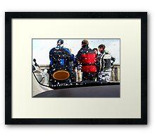 bikers meeting Framed Print